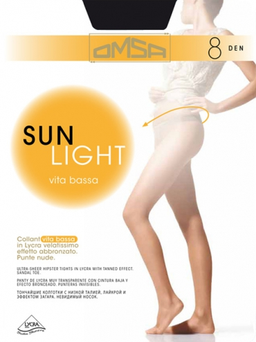 Колготки Omsa Sun Light 8 Vita Bassa
